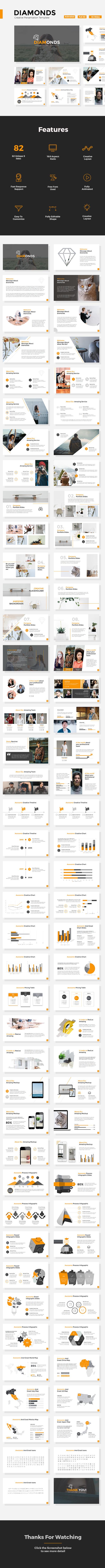 Diamonds - Creative Powerpoint Template - Creative PowerPoint Templates