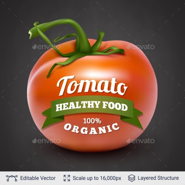 Tomato and Text - Organic Objects Objects