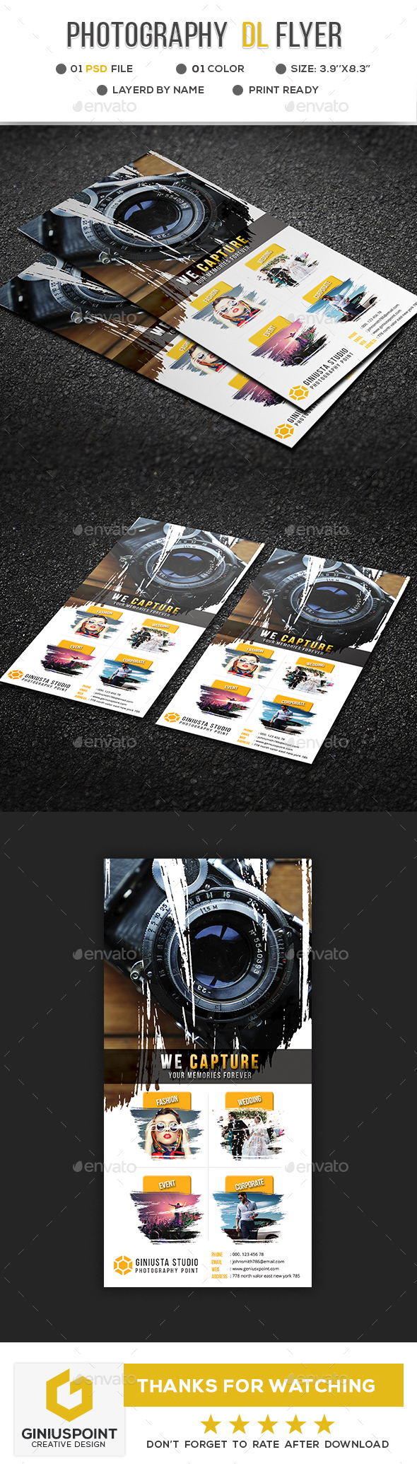 Photography DL-Flyer - Flyers Print Templates