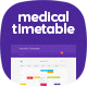 Medical Timetable - GraphicRiver Item for Sale