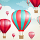 Red Air Balloons and Clouds - GraphicRiver Item for Sale