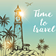 Background with Lighthouse and Palms - GraphicRiver Item for Sale