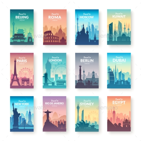 Collection of Famous City Scapes - Miscellaneous Vectors