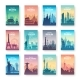 Collection of Famous City Scapes - GraphicRiver Item for Sale