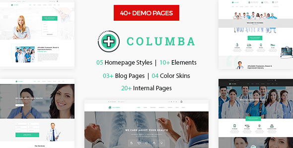 Columba - Medical HTML Template for Doctors, Dentists & Medical Store