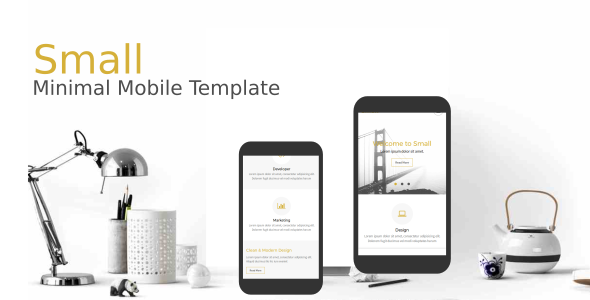Small - Minimal Mobile Template - Mobile Site Templates