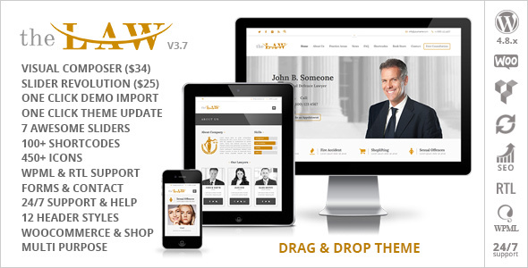 The Law Lawyer - Lawyers Theme + RTL - Business Corporate