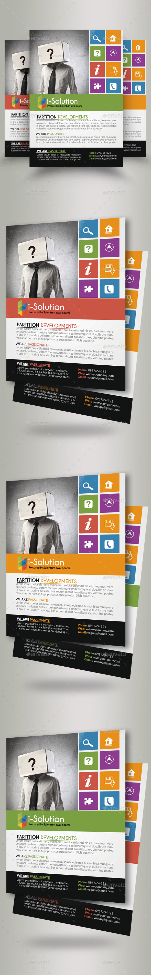 Business Identification Flyers - Corporate Flyers