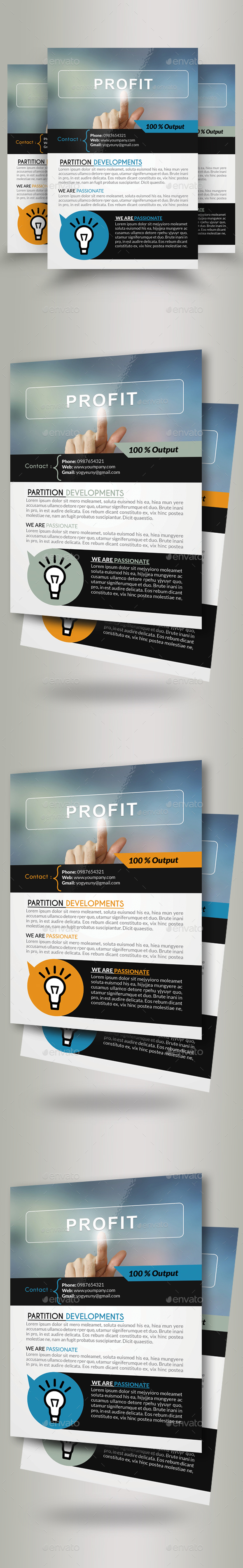 Business Profit Idea Flyers - Corporate Flyers