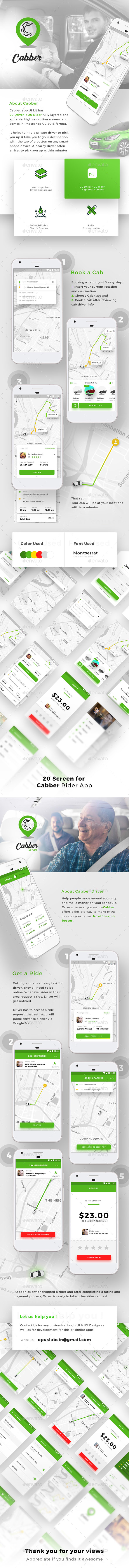 GraphicRiver Cab Booking App for Both Rider and Driver Cabber 20708431