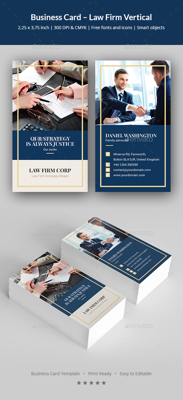 Business Card – Law Firm Vertical - Corporate Business Cards