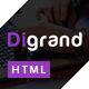 Digrand - One Page Portfolio Template And Blog - ThemeForest Item for Sale