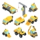 Different Technic for Construction Isometric Cars