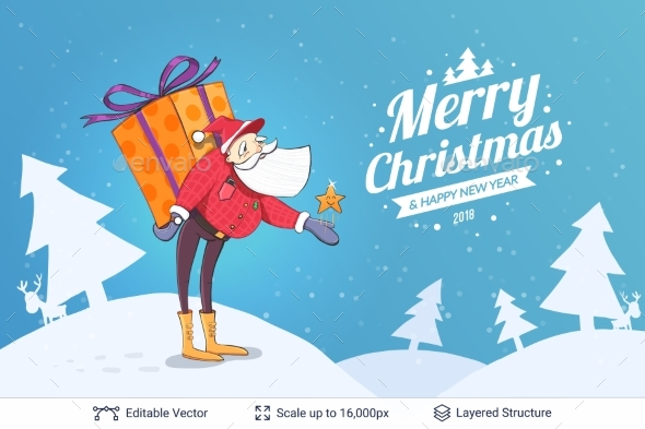GraphicRiver Christmas Background Design 20708455
