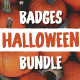 Halloween Badges / Retro Logo Set. Bundle Edition - GraphicRiver Item for Sale