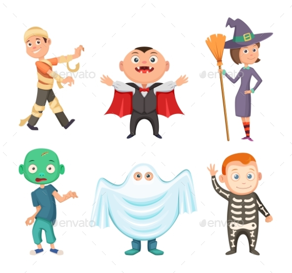 GraphicRiver Halloween Costumes for Kids 20708567