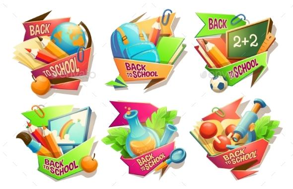 Set of School Badges - Miscellaneous Vectors