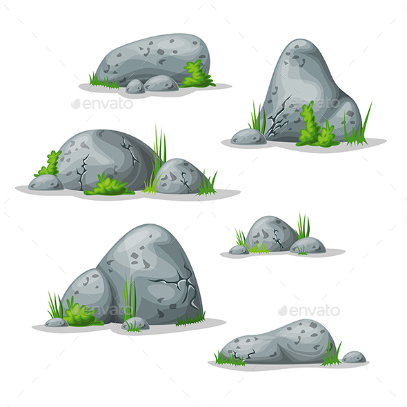 Set With Different Stones - Miscellaneous Vectors