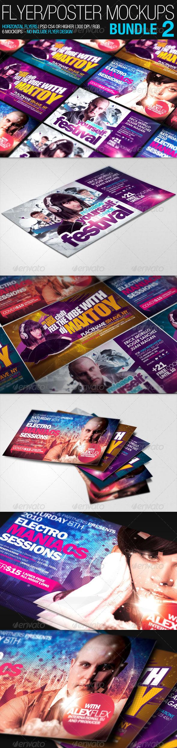 Flyer Poster Mockups Bundle 02 - Flyers Print