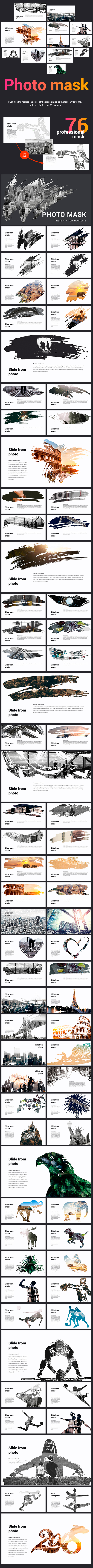 Photo Mask Powerpoint Template - Creative PowerPoint Templates
