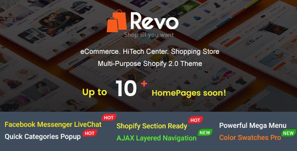 Revo - Creative Multi-Purpose Responsive Shopify Drag & Drop Sections Theme