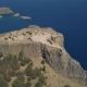 Aerial View of Ancient Acropolis of Lindos