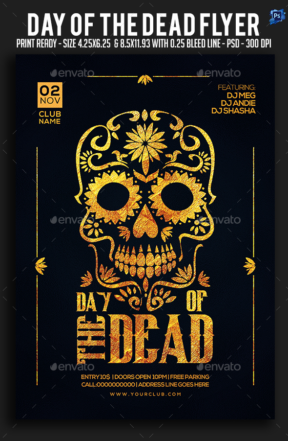 Day of the dead Flyer - Clubs & Parties Events