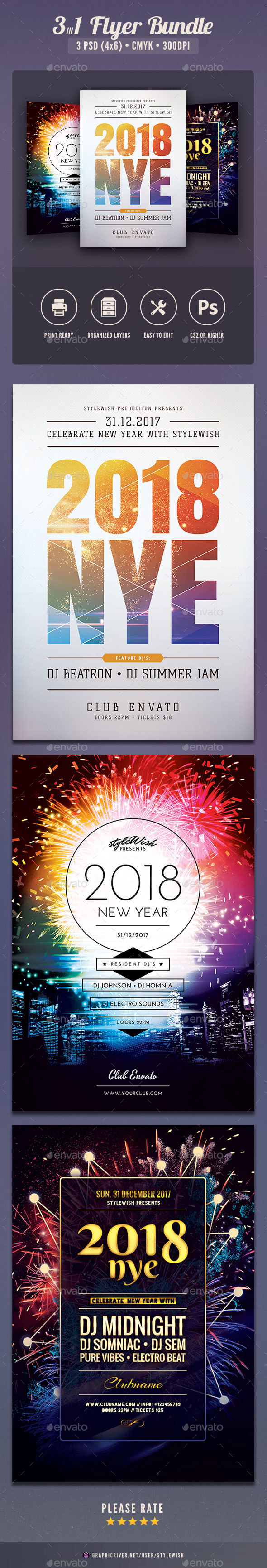 New year Flyer Bundle Vol.08