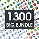 1300 Big Bundle Icons - GraphicRiver Item for Sale