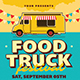 Retro Food Truck Event Flyer - GraphicRiver Item for Sale