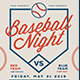 Baseball Night Flyer - GraphicRiver Item for Sale