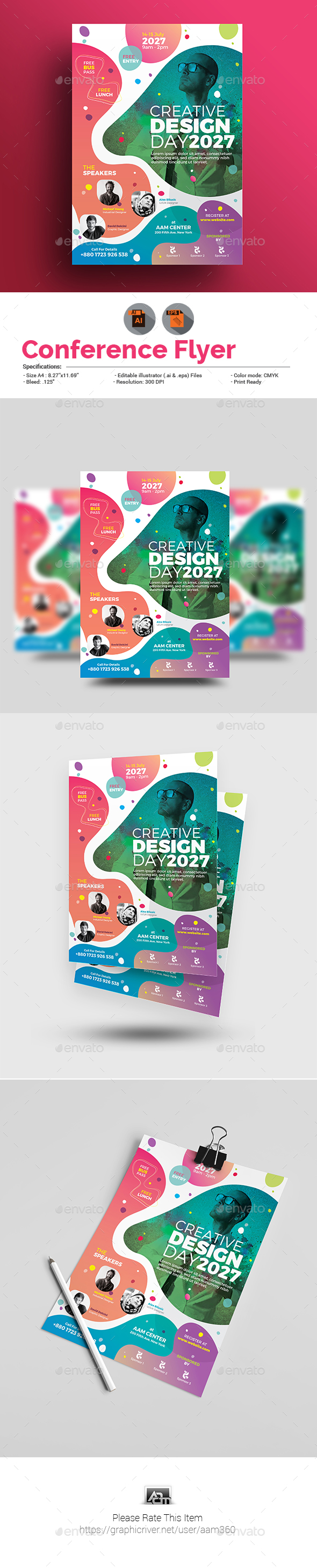 GraphicRiver Conference Flyer 20709369