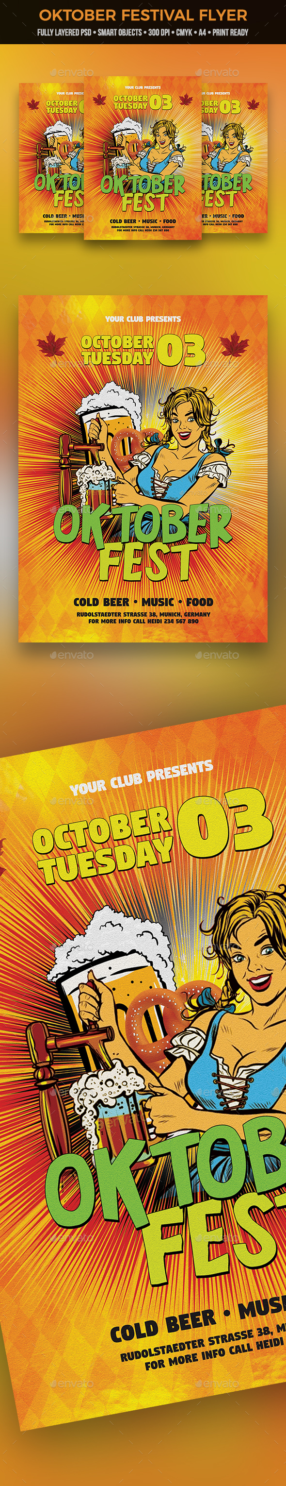Oktober Festival Flyer - Clubs & Parties Events