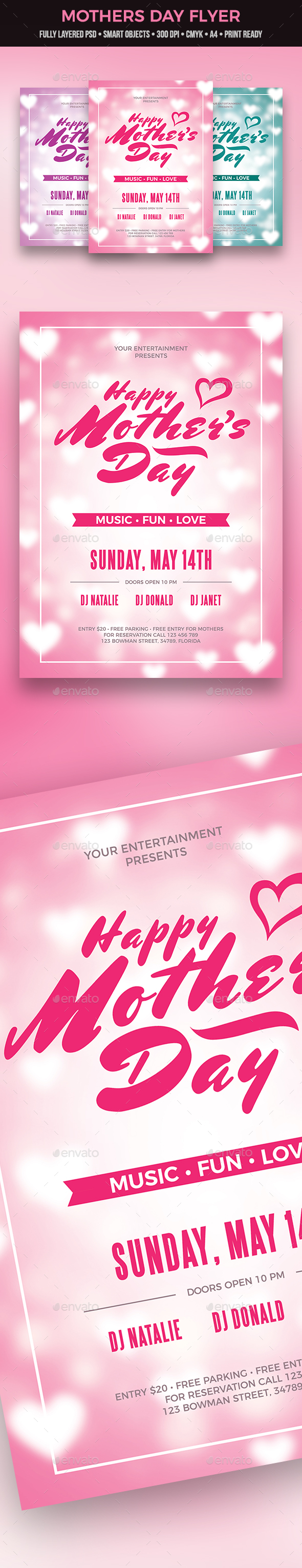 Mother's Day Flyer - Clubs & Parties Events