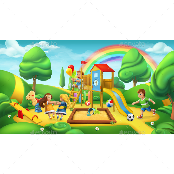 Children Playground - Vectors