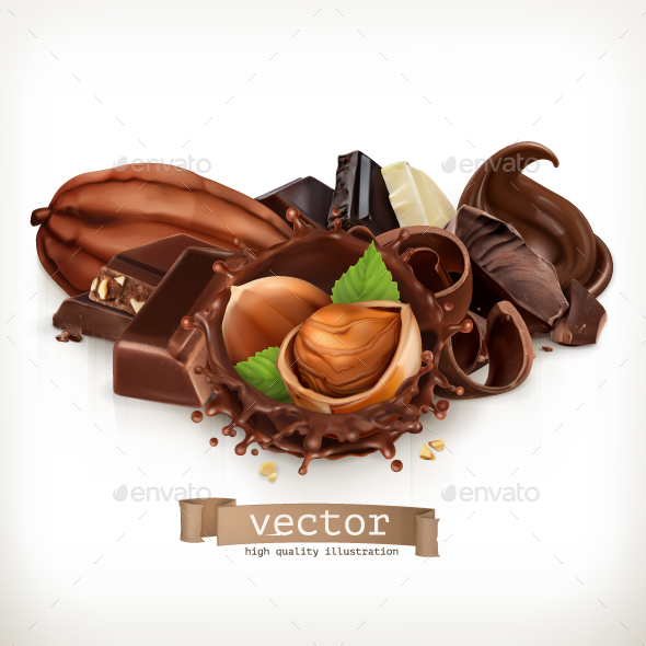 GraphicRiver Chocolate Bars And Pieces 20709540