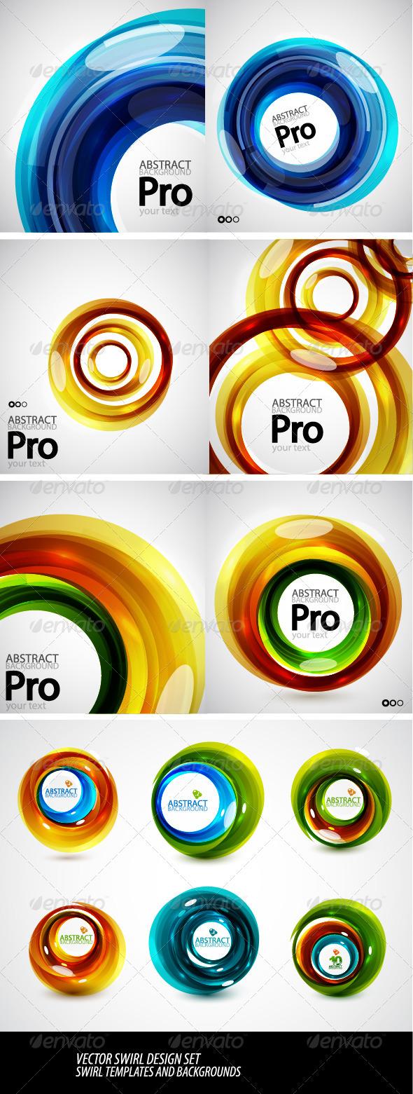Vector Swirl Templates - Abstract Conceptual