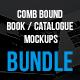 Comb Bound Book / Catalogue Bundle Mockups