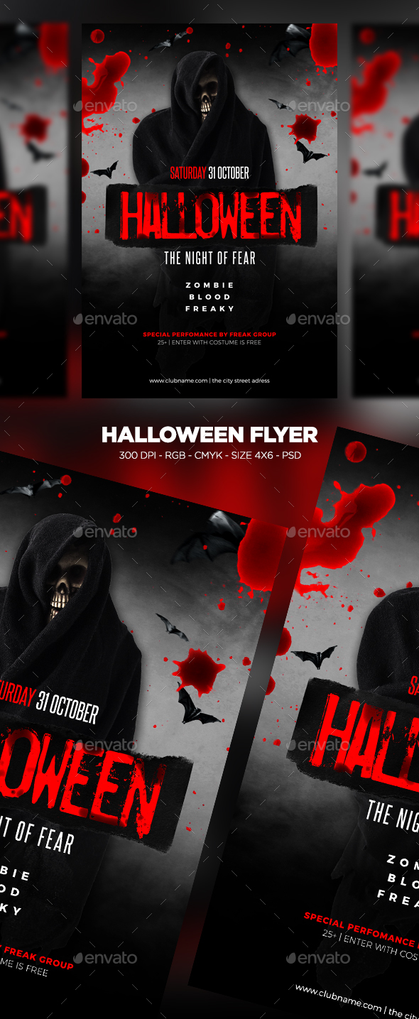 GraphicRiver Halloween Flyer 20709560