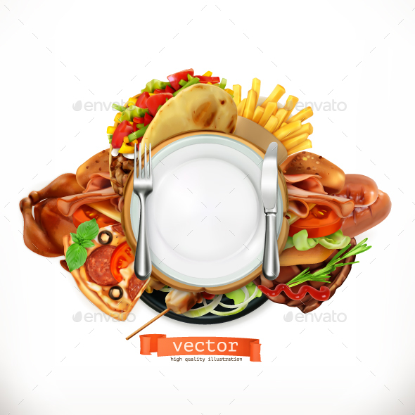 GraphicRiver Fast Food Logo 20709561