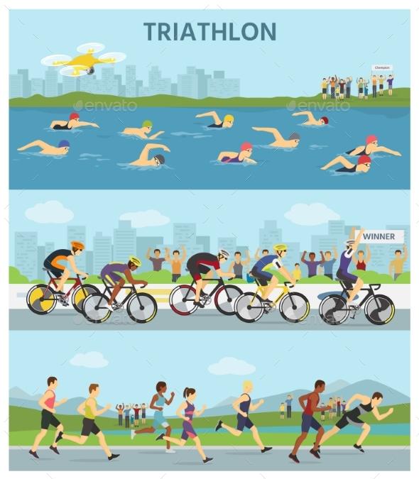 GraphicRiver Triathlon Marathon Sport Competition Race 20709582
