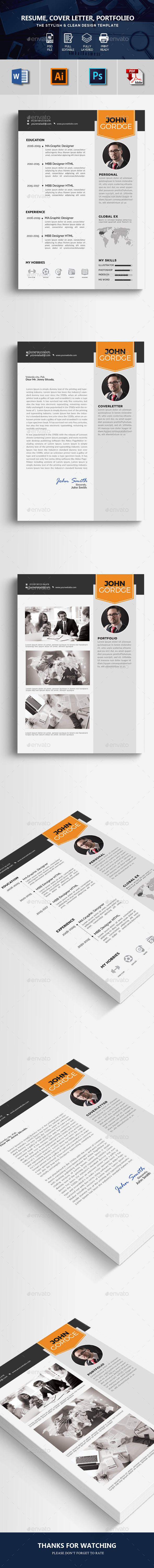 Resume CV Template 3 Pages - Resumes Stationery
