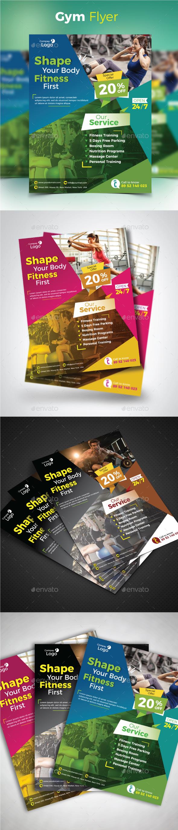GraphicRiver Gym Flyer 20709612