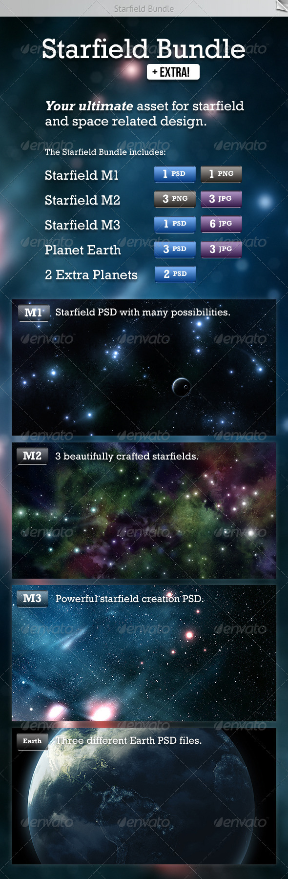 Starfield Bundle - Tech / Futuristic Backgrounds