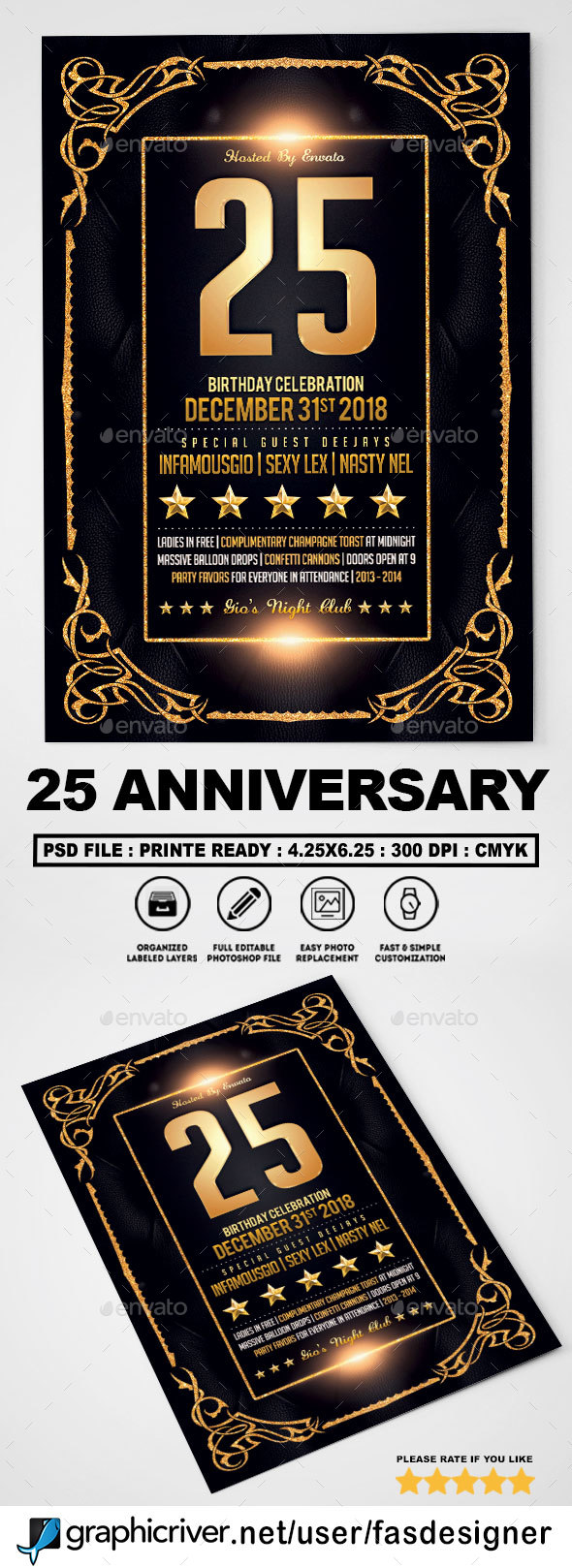 Anniversary Celebration Flyer - Clubs & Parties Events