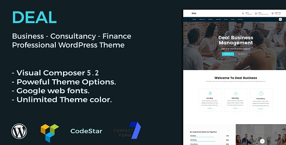 Deal | Consulting & Business WordPress Theme - Business Corporate
