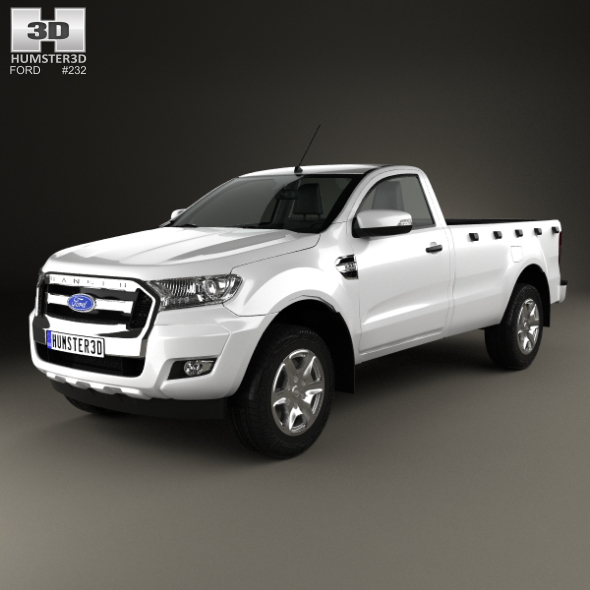 Ford Ranger Single Cab XL 2015 - 3DOcean Item for Sale