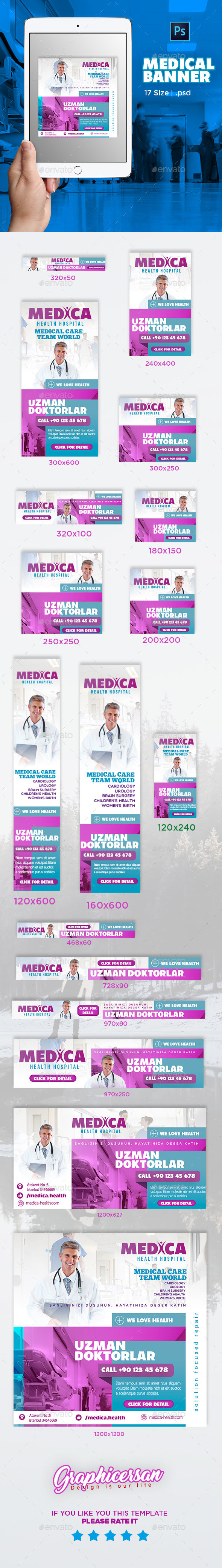 Medical Banner Template - Banners & Ads Web Elements