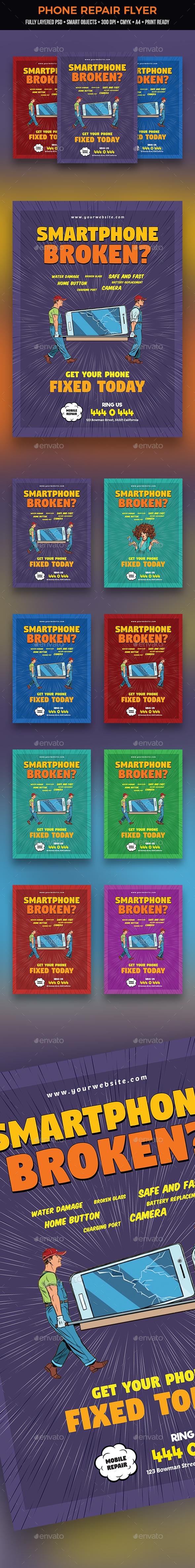 Phone Repair Flyer - Commerce Flyers