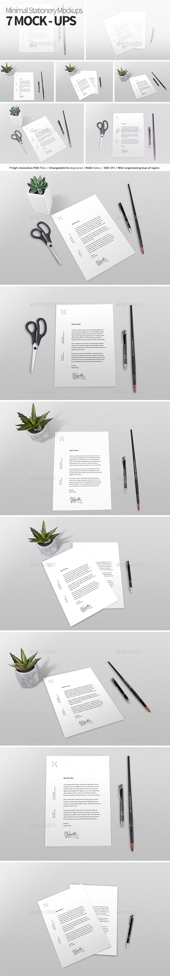 Minimal Stationery Mock-ups - Stationery Print